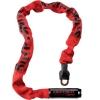 Kryptonite Keeper 785 Chain Łańcuch 85cm z zamkiem na klucz czerwony