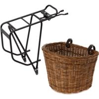 Bagażnik rowerowy i koszyk na rower