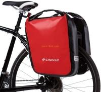 Crosso Dry Big Click (kpl.) 2x30L Sakwy rowerowe wyprawowe czerwone