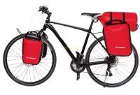 Crosso Dry Big (kpl.) 2x30L Sakwy rowerowe wyprawowe czerwone