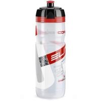 Elite Corsa Bidon clear czerwone logo