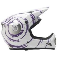 SixSixOne 661 Evolution Inspiral Kask biało purpurowy