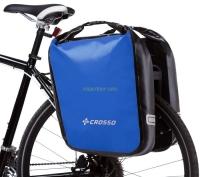 Crosso Dry Big Click (kpl.) 2x30L Sakwy rowerowe wyprawowe niebieskie