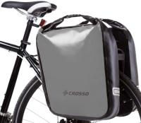 Crosso Dry Big (kpl.) 2x30L Sakwy rowerowe wyprawowe szare