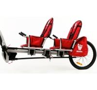 Weehoo i-Go Two Przyczepka rowerowa z pedałami dla dwójki dzieci