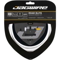Jagwire Elite Sealed Zestaw linek i pancerzy hamulcowych szosa biały