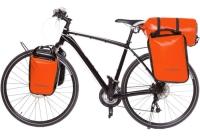 Crosso Dry Big (kpl.) 2x30L Sakwy rowerowe wyprawowe pomarańczowe