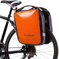 Crosso Dry Big Click (kpl.) 2x30L Sakwy rowerowe wyprawowe pomarańczowe