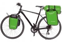 Crosso Dry Big (kpl.) 2x30L Sakwy rowerowe wyprawowe jasno zielone