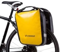 Crosso Dry Big (kpl.) 2x30L Sakwy rowerowe wyprawowe żółte