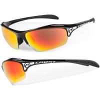Accent Crest Okulary rowerowe czarne szaro czarno niebieska soczewka