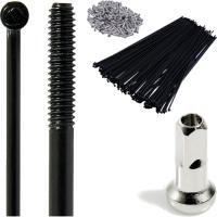 CNSPOKE STD14 Szprycha 2.0mm 254-304mm czarna + nypel