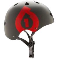 SixSixOne 661 Kask Dirt Lid Icon szaro czerwony