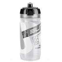 Elite Corsa Bidon clear srebrne logo