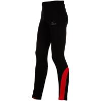 Rogelli Dunbar Spodnie do biegania długie czarno czerwone