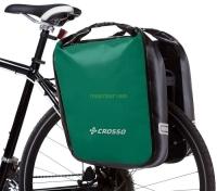 Crosso Dry Big Click (kpl.) 2x30L Sakwy rowerowe wyprawowe zielone