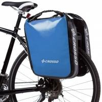 Crosso Dry Big Click (kpl.) 2x30L Sakwy rowerowe wyprawowe jasno niebieski