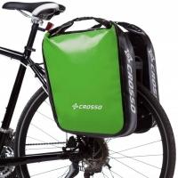 Crosso Dry Big Click (kpl.) 2x30L Sakwy rowerowe wyprawowe jasno zielone