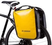 Crosso Dry Big Click (kpl.) 2x30L Sakwy rowerowe wyprawowe żółte