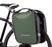 Crosso Dry Big Click (kpl.) 2x30L Sakwy rowerowe wyprawowe oliwkowe