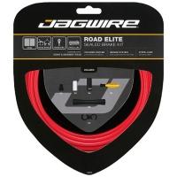 Jagwire Road Elite Sealed Zestaw linek i pancerzy hamulca szosa czerwony