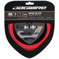 Jagwire Road Elite Sealed Zestaw linek i pancerzy przerzutki szosa czerwony