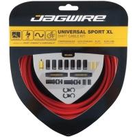 Jagwire Universal Sport XL Zestaw linek i pancerzy przerzutki MTB / Szosa czerwony
