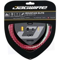Jagwire Mountain Elite Link Zestaw linek i pancerzy przerzutki MTB czerwony