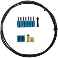 Jagwire Universal Pro Zestaw uszczelnijący linkę przerzutki 4.5mm z końcówkami niebieski