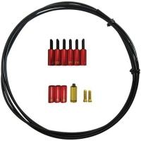 Jagwire Universal Pro Zestaw uszczelnijący linkę przerzutki 4mm z końcówkami czerwony