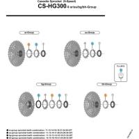 Shimano Koronka kasety Acera CS HG300