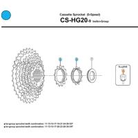 Shimano Koronka kasety CS HG20