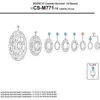 Shimano Koronka kasety XT CS M771