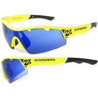 Accent Stingray Okulary rowerowe żółto czarne niebieskie soczewki