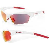Accent Racer Okulary rowerowe biało czerwone czarno czerwona soczewka