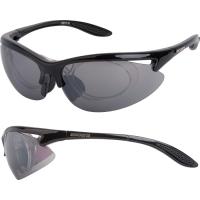 Accent Onyx Okulary rowerowe czarne połysk szara soczewka