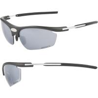 Accent Fever Okulary rowerowe czarno srebrne szaro żółta soczewka