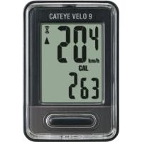 Cateye Velo 9 CC VL820 Licznik rowerowy 9 funkcyjny czarny