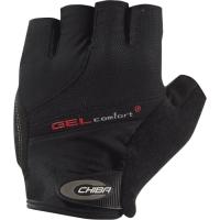 Chiba Gel Comfort Plus Rękawiczki rowerowe czarne z czerwonym