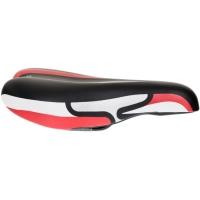 Selle Royal JK Junior Siodełko rowerowe czarno czerwono białe