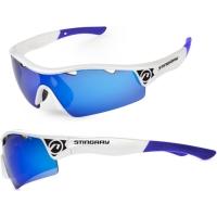 Accent Stingray Okulary rowerowe biało niebieskie niebieskie soczewki