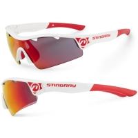 Accent Stingray Okulary rowerowe biało czerwone czerwono czarne soczewki