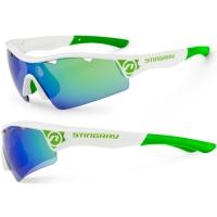 Accent Stingray Okulary rowerowe zielono niebieskie soczewki