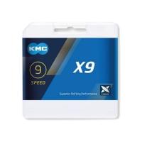KMC X9 Łańcuch 9 rzędowy 114 ogniw + spinka