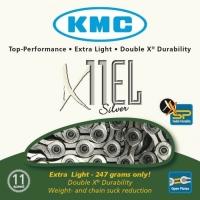 KMC X11EL Łańcuch 11 rzędowy 114 ogniw + spinka