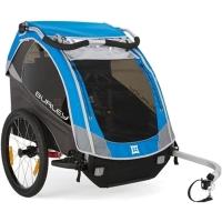 Burley D'Lite Przyczepka rowerowa dla dziecka dwuosobowa niebieska