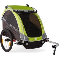 Burley D'Lite Przyczepka rowerowa dla dziecka dwuosobowa zielona