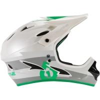 SixSixOne 661 Comp Kask Full Face biało szaro zielony