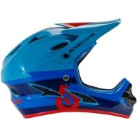 SixSixOne 661 Comp Kask Full Face niebiesko czerwony