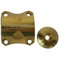 Thomson Elite X4 MTB Zacisk do mostka + Kapa sterów 1 i 1/8 cala złota